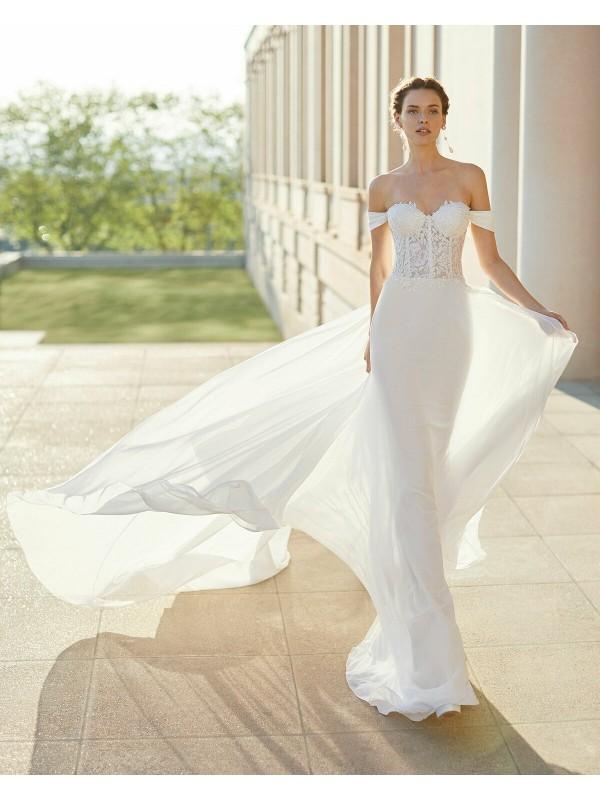 SATINA - abito da sposa collezione 2020 - Rosa Clarà Couture