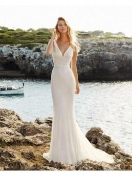 QUIRO - abito da sposa collezione 2020 - Aire Barcelona - Atelier - Beach