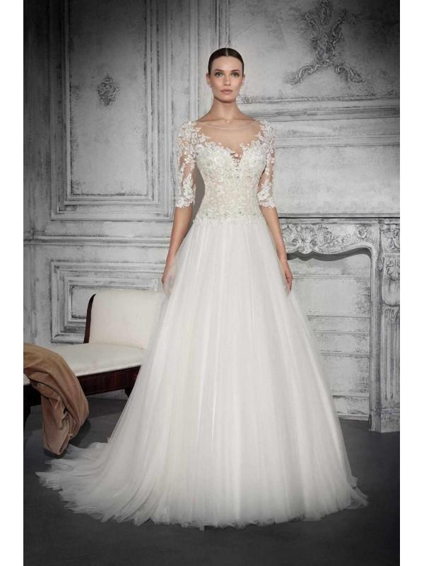 DONNA ROSARIA - abito da sposa Le Spose di Milano Shop Online  - Un abito da sposa che ha una sorta di eleganza sognante