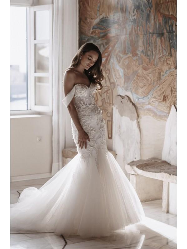 Atlanta - abito da sposa collezione 2022 - Millanova - Olives