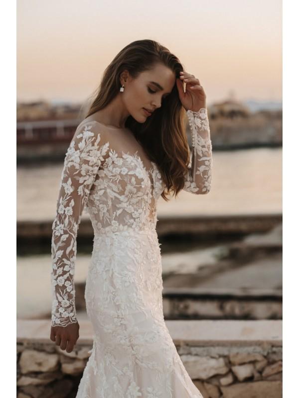 Elena - abito da sposa collezione 2022 - Millanova - Olives